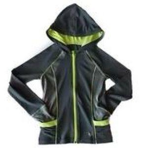 Justice lightweight hoodie zip up gray jacket 7
